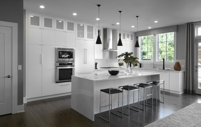 Kitchen of home at The Brownstones at Chevy Chase Lake