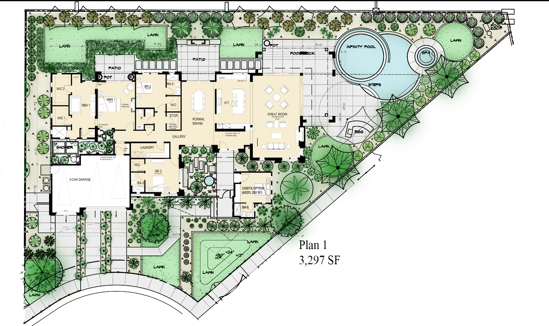 Design solutions for narrow and wide lots professional for City lot house plans