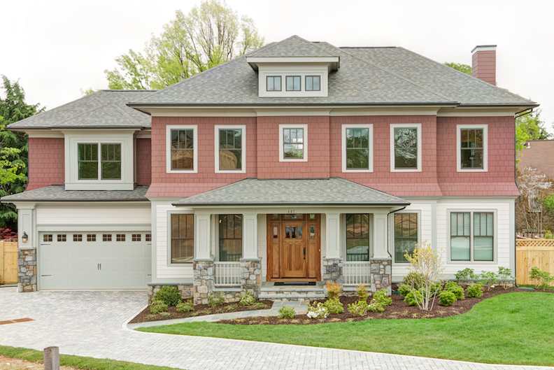 Home Design Architecture. The Foursquare architecture of this home at Enclave Ballston  in Arlington Va works well with the wide deep lot is set back on Design Solutions for Narrow and Wide Lots Professional Builder