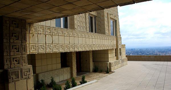 Frank Lloyd Wright Ennis house exterior