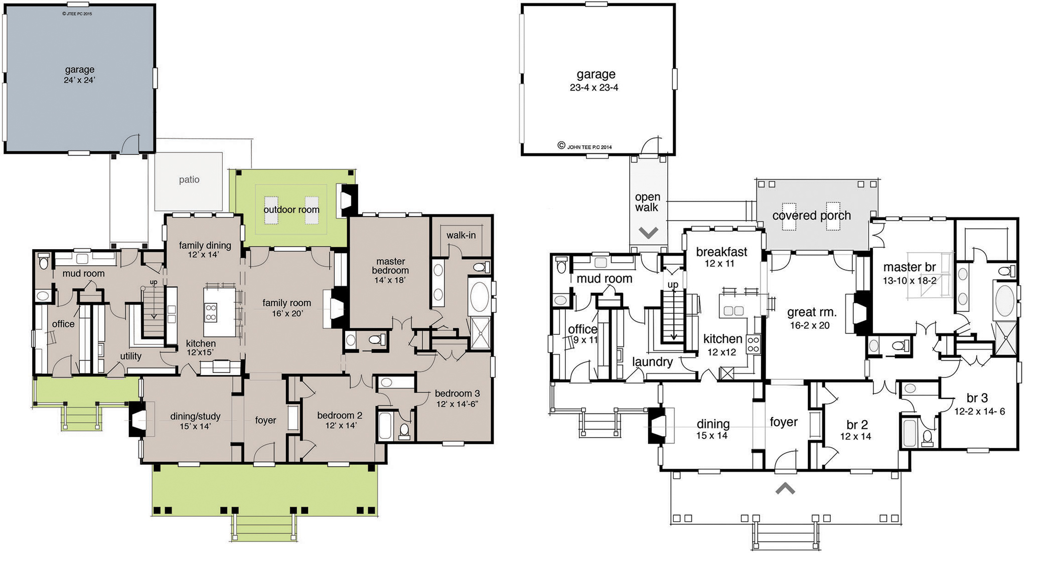 House plans with foyer entrance for Mountain home floor plans