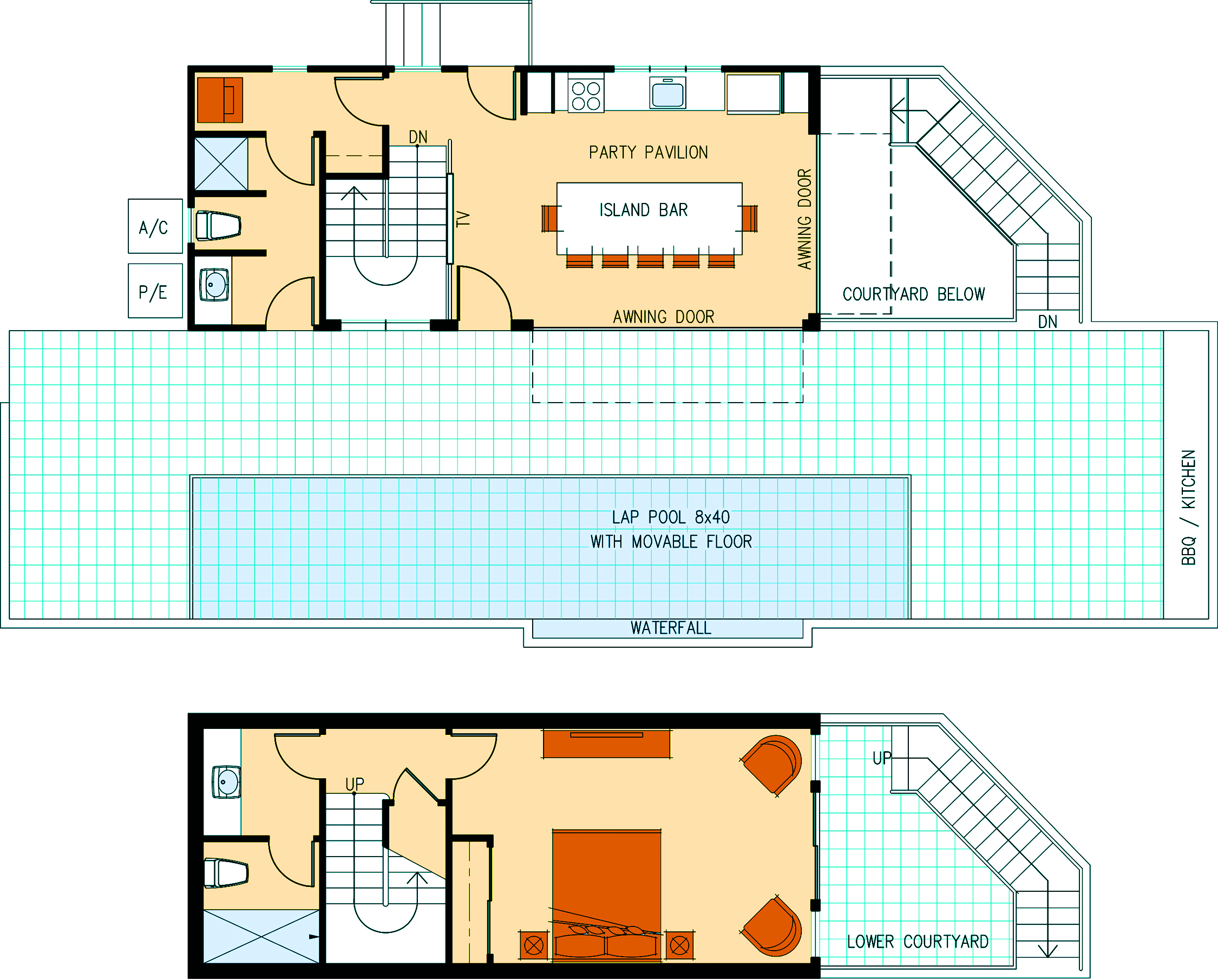 Party house floor plans House and home design