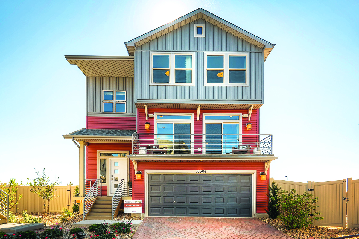 Volante by Oakwood Homes is an entry-level model in the Carriage House Collection at Green Valley Ranch, a community that draws millennials and buyers from ...