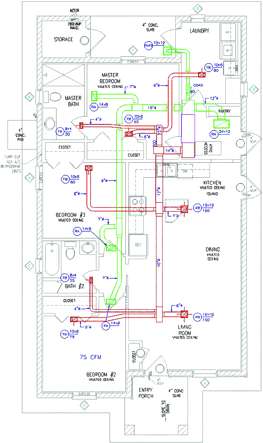 integrating compact and buried duct systems