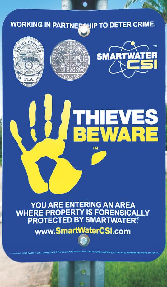 SmartWater CSI's theft deterrent