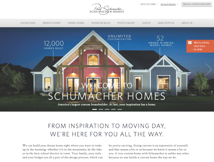 Schumacheru0027s Website Streamlines The Online Experience, Using Only  Information Directly Relevant To Buyer Decision Making. Destination  Inspiration