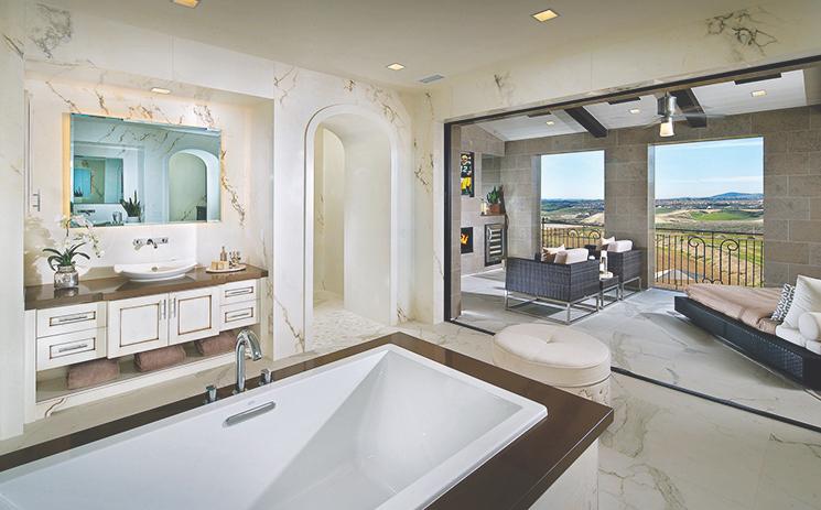 Master Bathroom Size design review: master baths | professional builder
