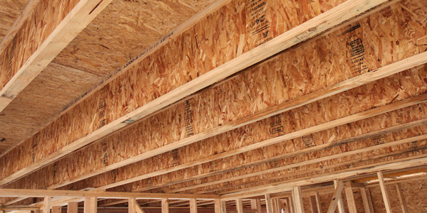 """Advanced framing techniques such as framing with I-joists spaced 24"""" on center reduces labor and material costs."""