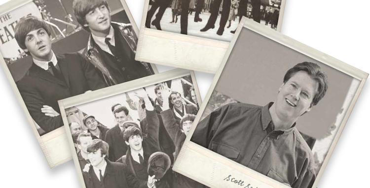 Scott Sedam on staying relevant-old photos of Sedam and Beatles