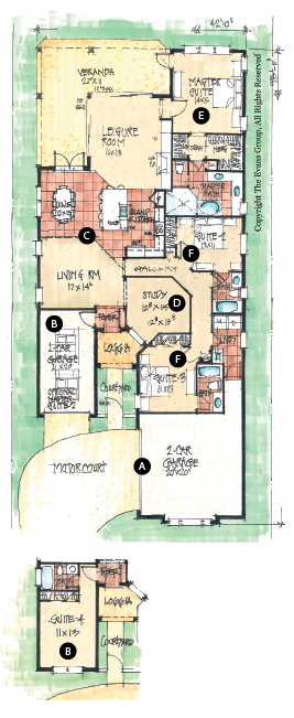 Not super skinny floorplan