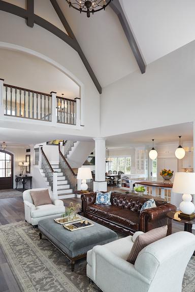 Main living area of Waterleaf custom home