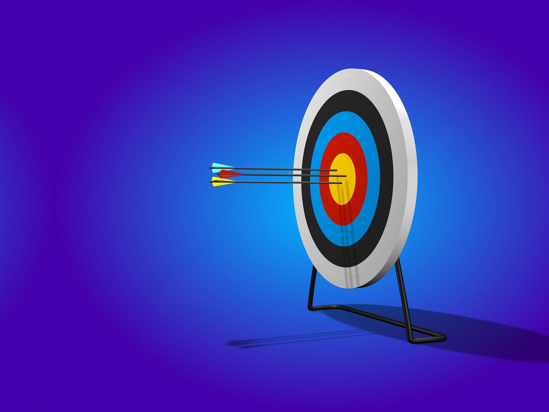 Archery bullseye. Image: Quince Media via Pixabay.