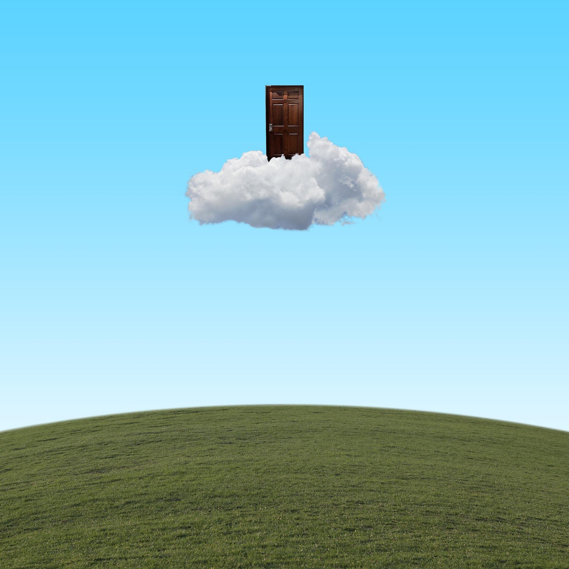 Door, sky, cloud