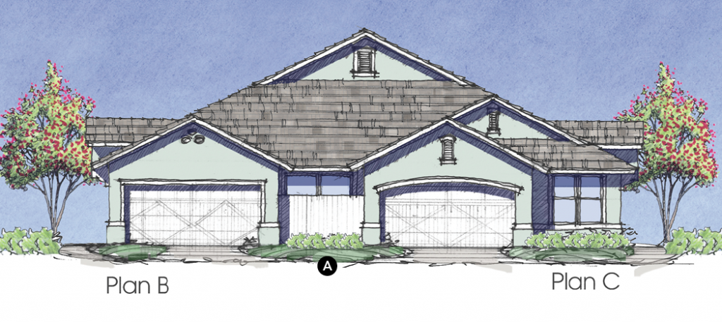House Review_Evans_Duplex Clubhome_elevation