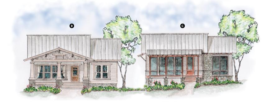 House Review_Larry Garnett_Smithville Cottages_elevations