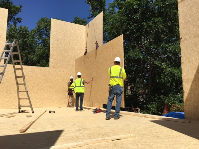 A MonoPath tall wall is installed at a Habitat for Humanity project in Minnesota