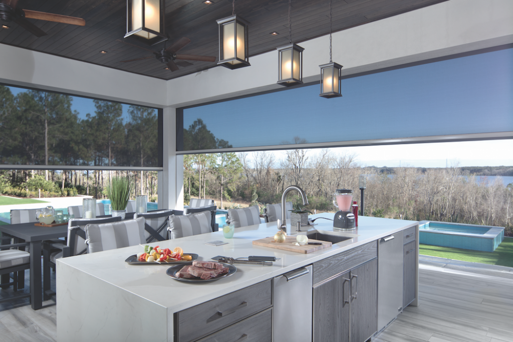 The New American Home 2018 indoor-outdoor kitchen