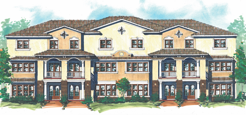 Evans luxury courtyard homes elevation