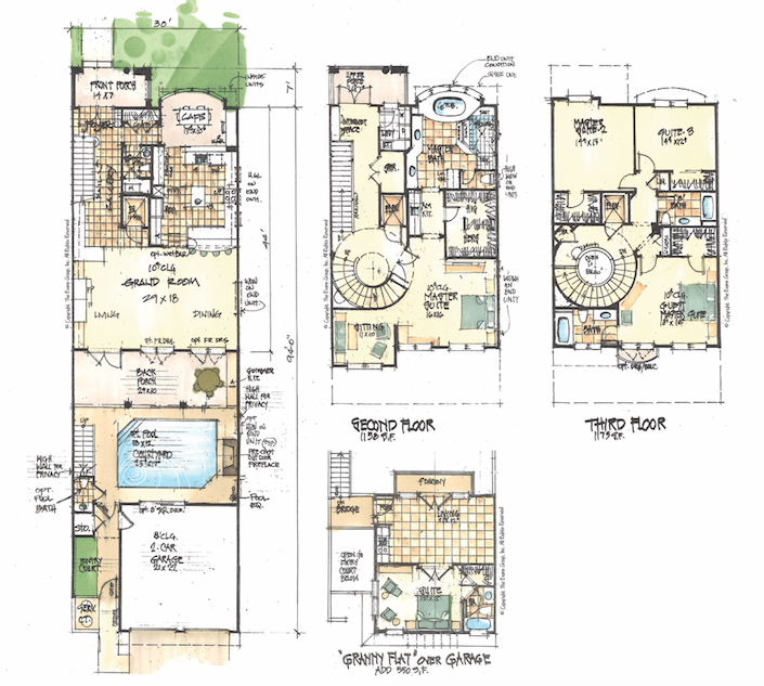 The Evans Group Luxury courtyard homes house plans