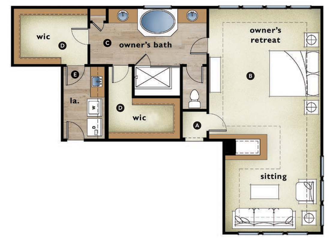 Master bedroom floor plans with fireplace for Master bedroom with sitting room floor plans