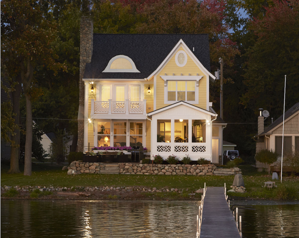 Waterfront home plans michigan for Best lake house plans