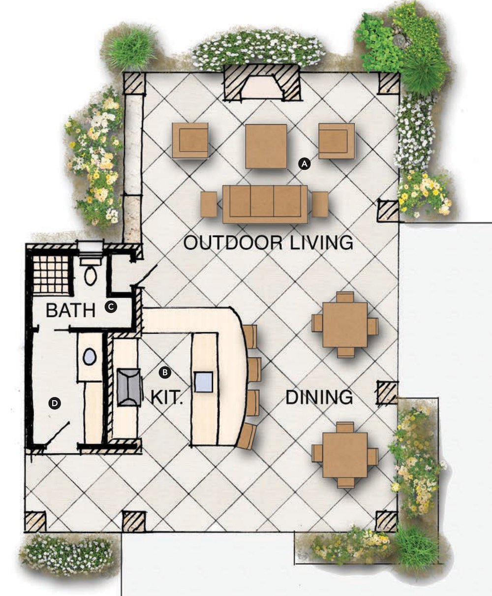 outdoor living floor plans house review outdoor living spaces professional builder 5779