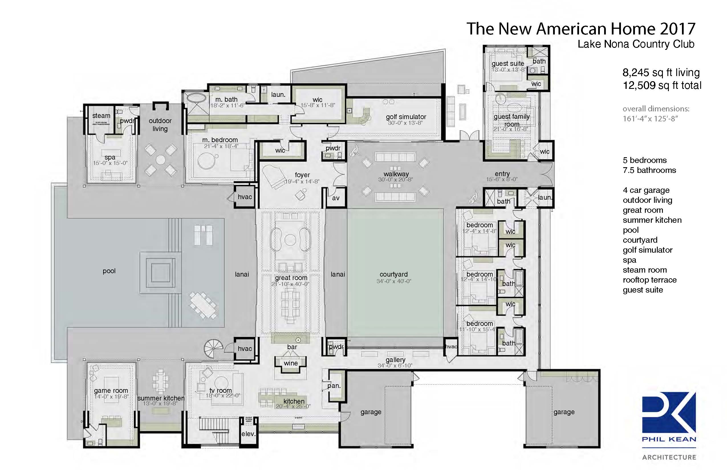 The new american home 2017 professional builder for New american house plans