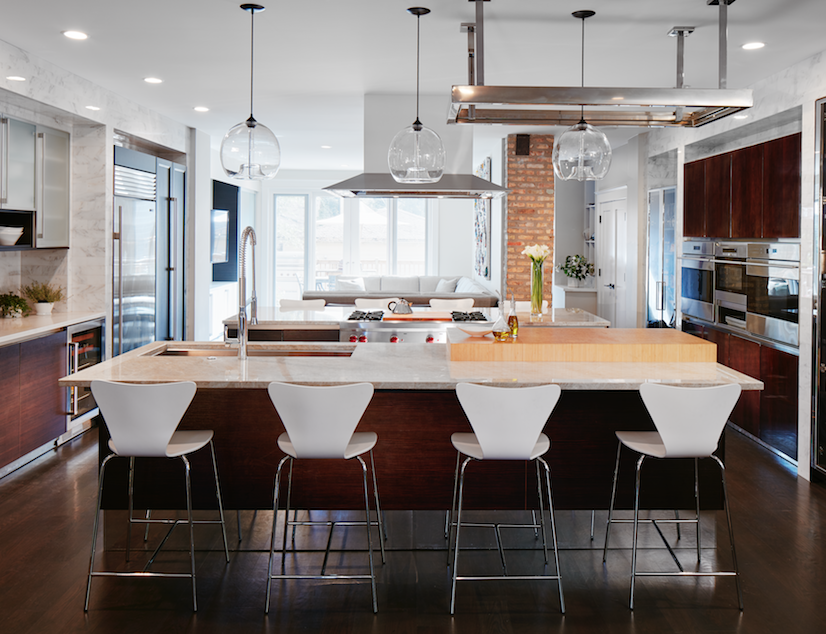 Located In Chicago, This Kitchen Designed By Mick De Giulio Of De Giulio Kitchen  Design Continues The Trend Toward Open Plan Kitchens That Lead Into Other  ...
