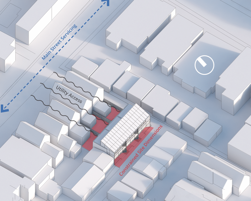 Aerial view, laneway house, Illustration: Future Cities Collective