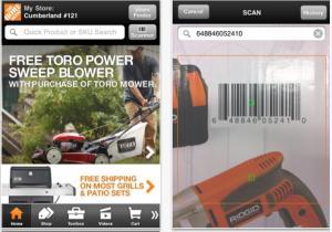 Home Depot ipad app