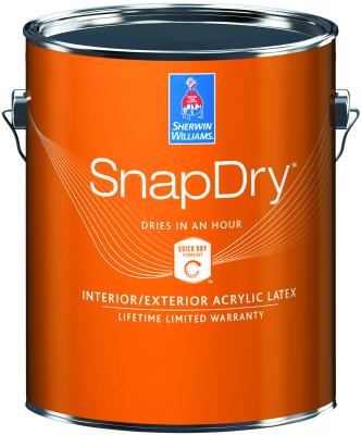 SnapDry Door And Trim Paint From Sherwin Williams Can Be Applied To Doors,  Windows, Trim, And Shutters. The Interior And Exterior Water Based Acrylic  Latex ...