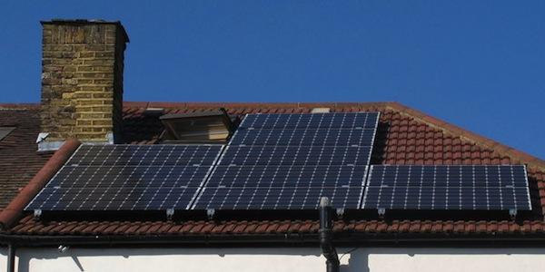 Renewable energy, such photovoltaics, doesn't necessarily make a building green. Photo: David Hawgood/Creative Commons