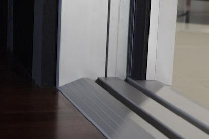 LaCantina Doors ADA-compliant folding door threshold