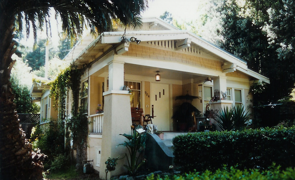 California bungalow front facade