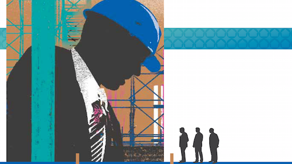 Illustration shwoing big builder with smaller builders