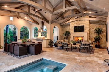 luxe home design. Outdoor entertaining space Luxe Home Buyers  Top 10 Wants Professional Builder