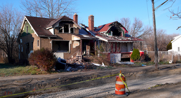 Derelict Detroit housing; Photo: Flickr user Stan Wiechers (CC BY-SA 2.0)
