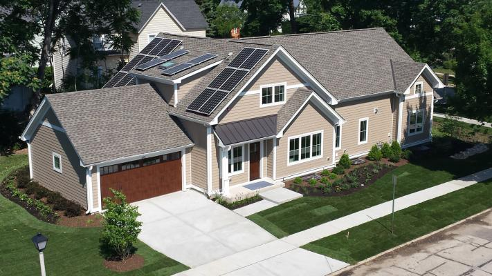 This LEED Platinum home in Libertyville, Ill.,