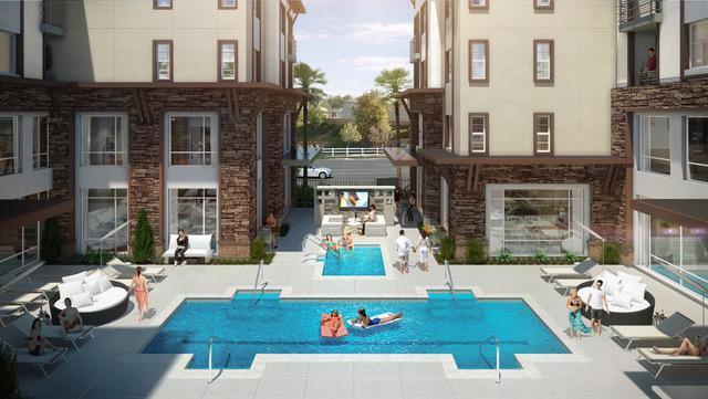 MBK Metro Gateway pool rendering