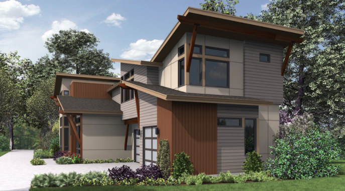 designed homes. Architects Northwest designed the home for Merit Homes  Seattle Illustration Design Solutions Narrow and Wide Lots Professional Builder