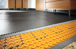 Schluter's The Ditra-Heat floor warming system provides floor warming and uncoupling in a single layer.