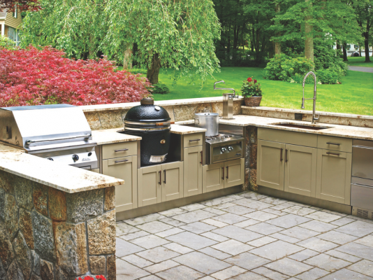 Etonnant Danver Now Offers Custom Painted Color Options And Powder Coat Painted Wood  Finishes For Its Stainless Steel Indoor/outdoor Kitchens, Including Doors  And ...