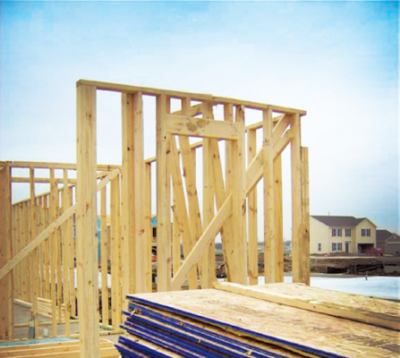 Framing and materials on site