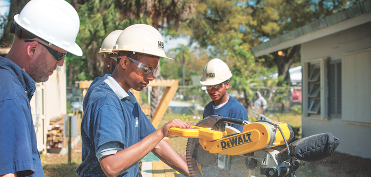 Home Builders Institute students at work-photo courtesy HBI