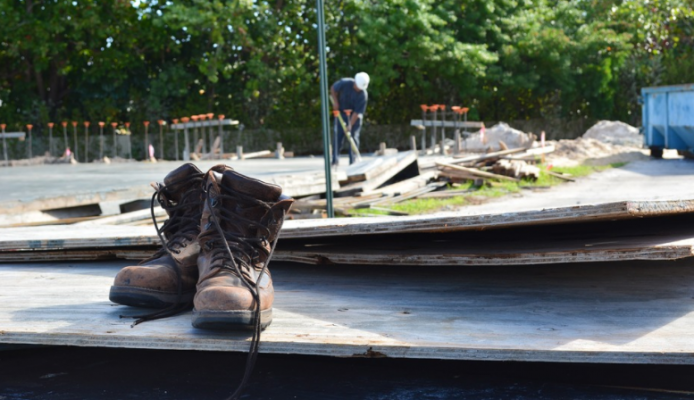 boots on construction jobsite-labor shortage-photo