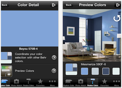 Behr paint, Behr ColorSmart, ColorSmart iPhone app, ColorSmart Android app