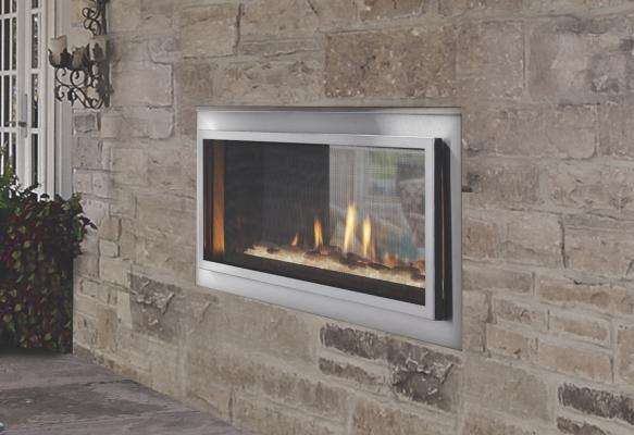 Indoor/Outdoor Fireplace | Outdoor Lifestyles | Professional Builder