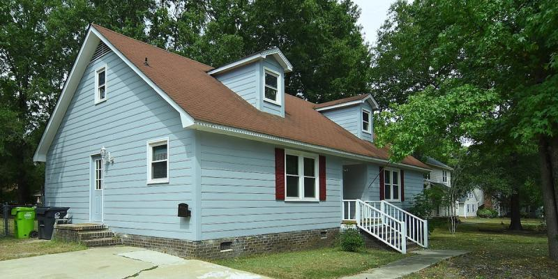 New house blue