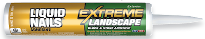 A tube of Liquid Nails Extreme Landscape Block and Stone Adhesive