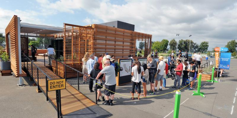 A house built by California Polytechnic State University at Solar Decathlon 2015